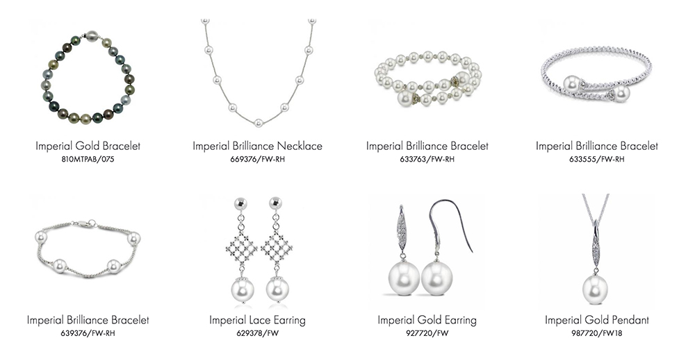 Imperial Pearls jewelry products