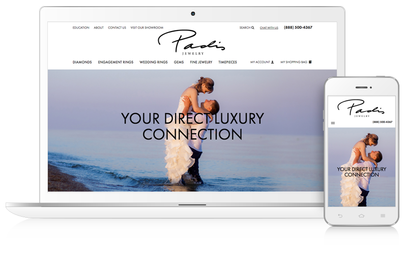 jewelry website design example for jewelers charlotte north carolina