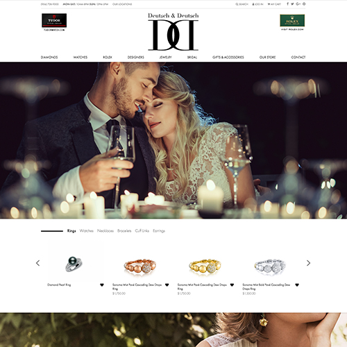 Deutsch & Deutsch Jewelers website design example - jewelry websites