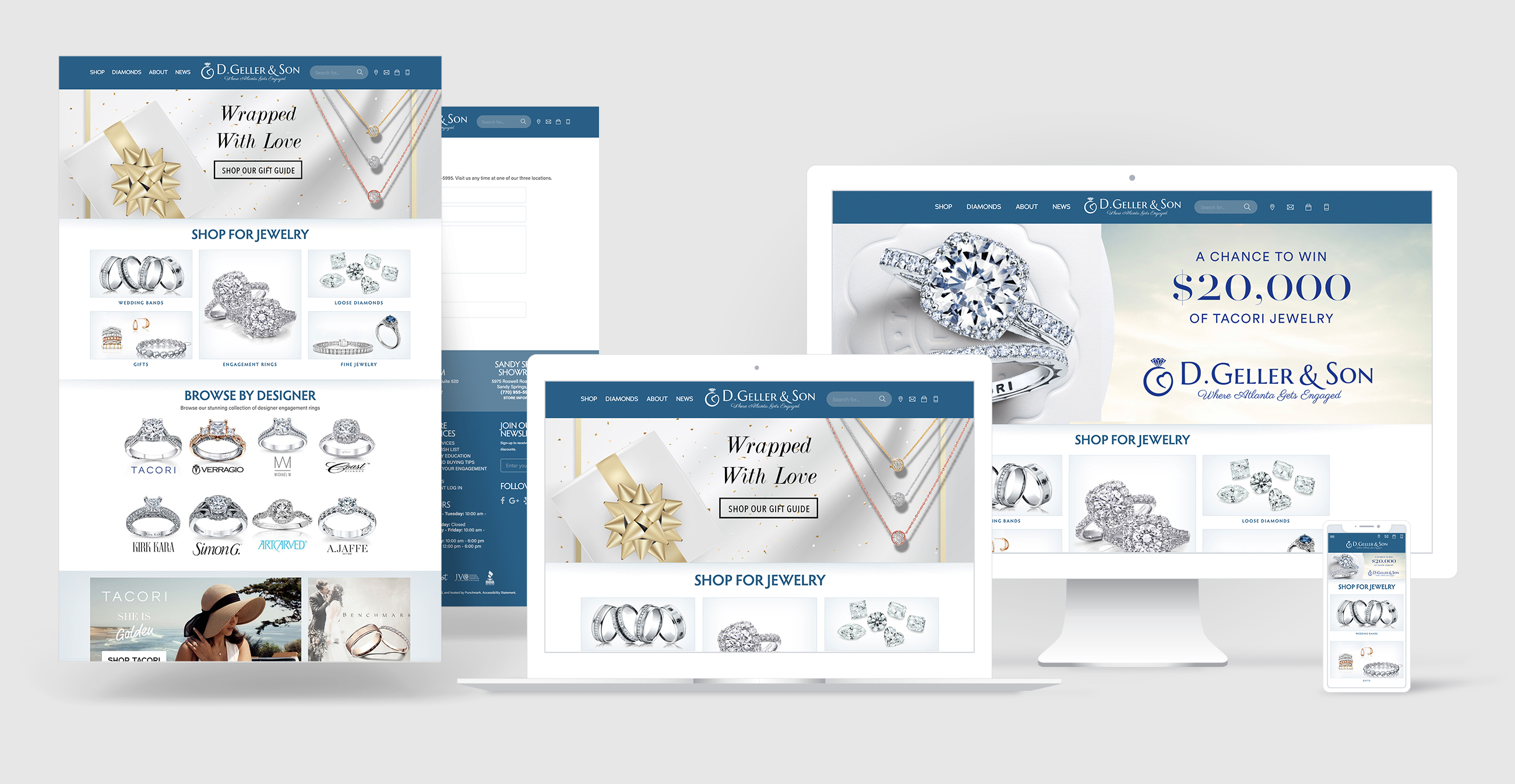 jewelry website design portfolio - D. Geller & Son
