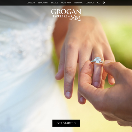 Grogan Jewelers by Lon website design example - jewelry websites