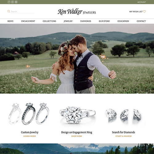 Ken Walker Jewelers theme example