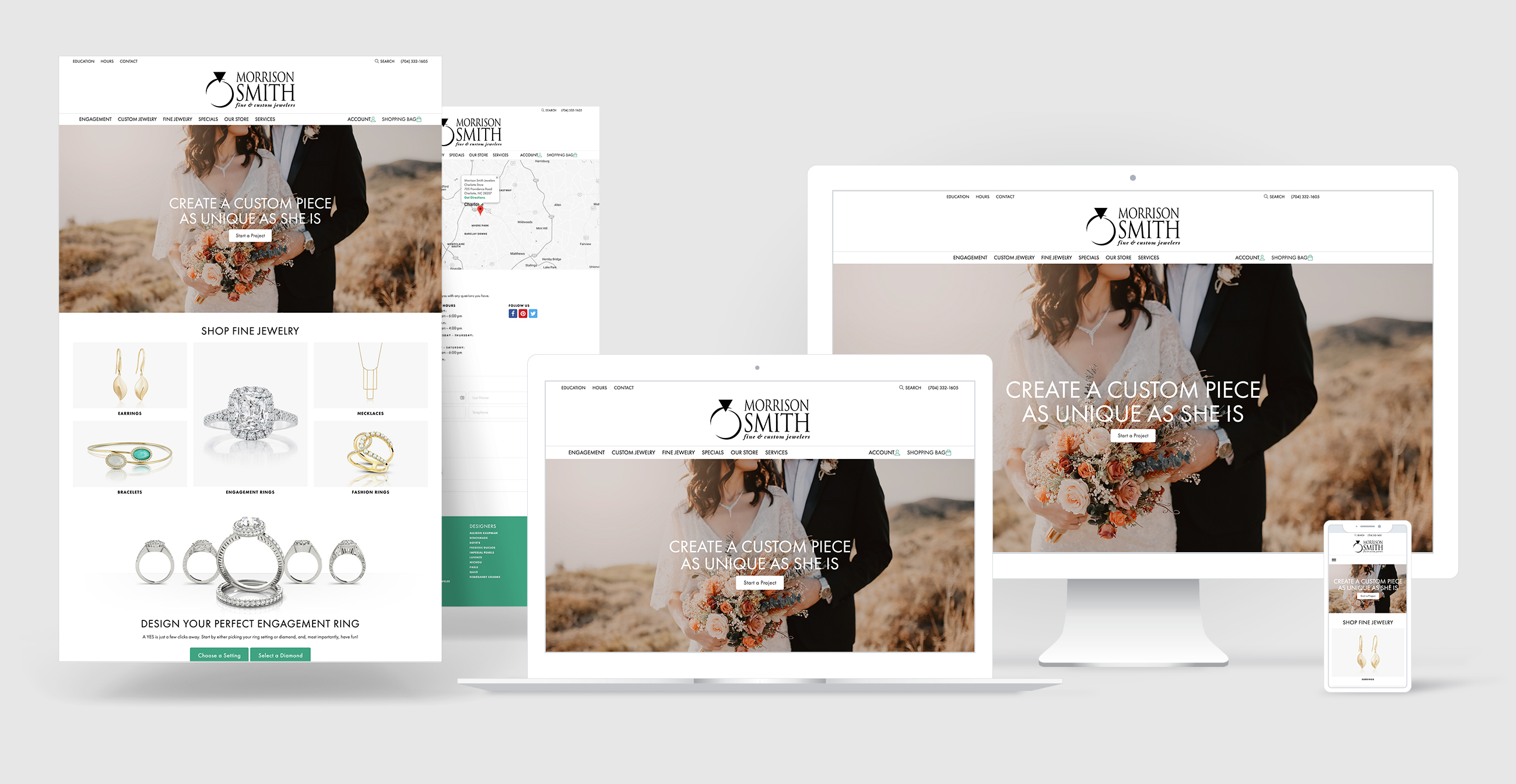 jewelry website design portfolio - Morrison Smith Fine Jewelers