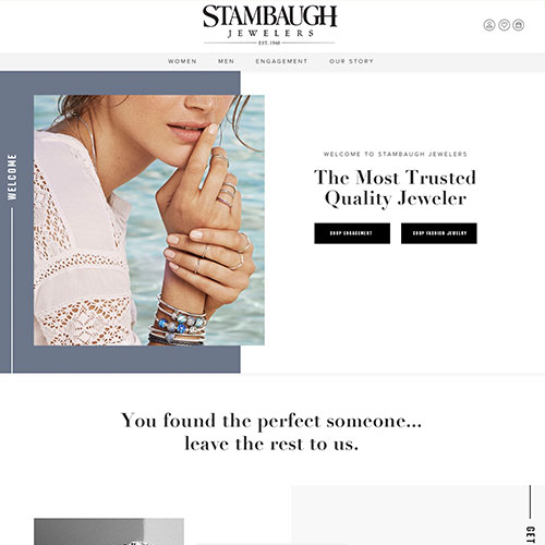 Stambaugh Jewelers website design example - jewelry websites