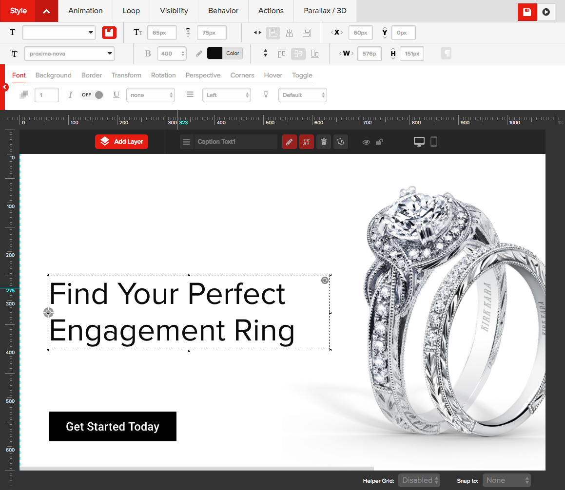 homepage marketing editor for jewelry websites