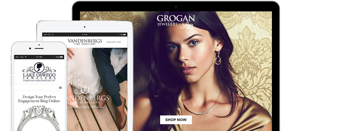 responsive jewelry web design for retail jewelers